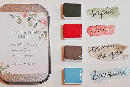 Aquarelles artisanales - Collection Hiver 2020