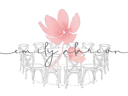 Table ronde chaises St Remy / Bistrot / Dos croisé