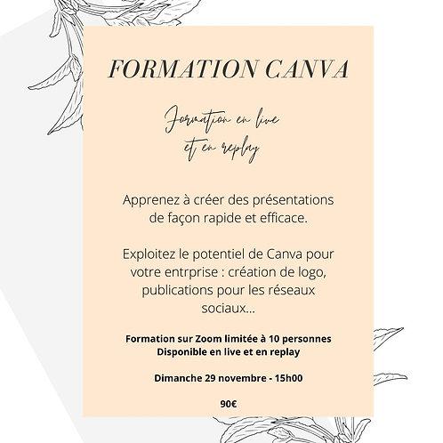 Formation Canva - Dimanche 29 novembre - 15h - 17h