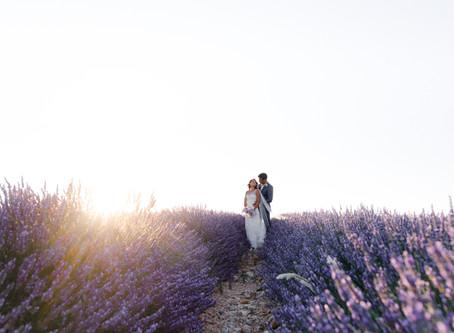 Anna + Denis | Vows renewal in Lavender fields