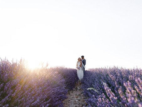 Anna + Denis | Vows renewal in Lavender fields