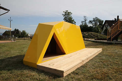 KENNEL SHEILA - yellow color RAL1016