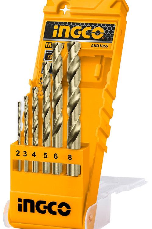 AKD1055 - Bộ 6 mũi khoan kim loại