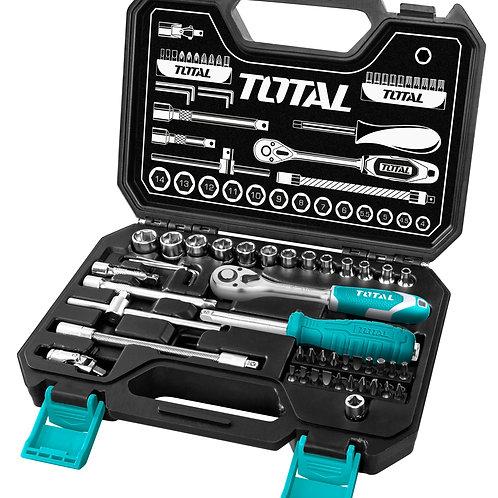 THT141451 - Bộ 45 Socket (1/4 inch) & cần 2 chiều