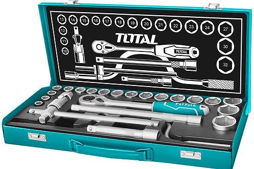 THT141253 - Bộ 24 cái socket (1/2 inch) & cần 2 chiều