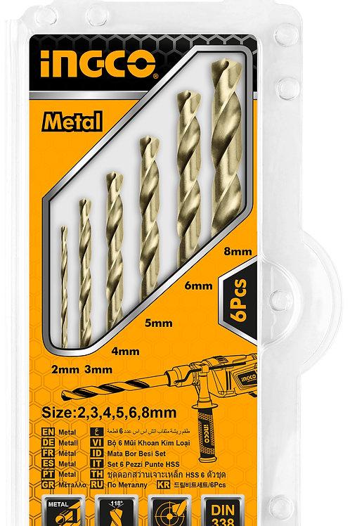 AKDB1065 - Bộ 6 mũi khoan kim loại HSS