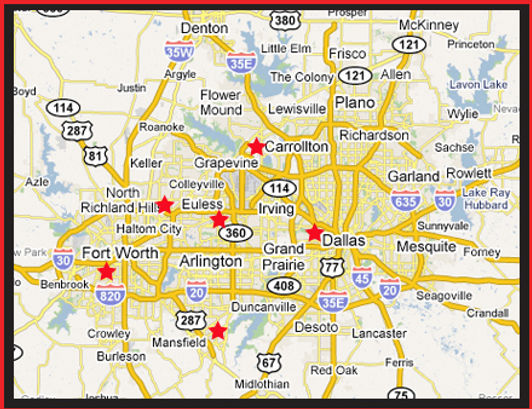 Lendan Communications locations across DFW