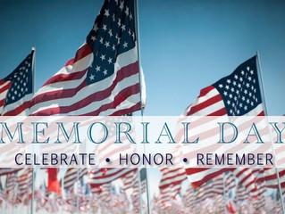 Have a Wonderful Memorial Day Holiday!