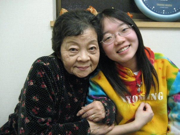 My grandma and I at a friend's restaurant 2008