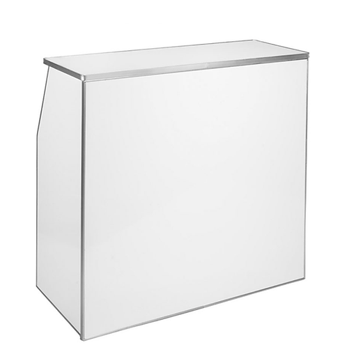 4' White Folding Bar