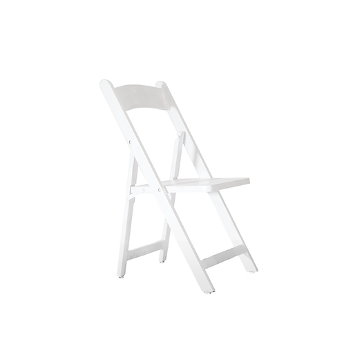 Children Wooden Folding Chair White