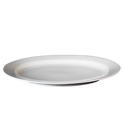 "White China - 16"" Round Serving Platters"
