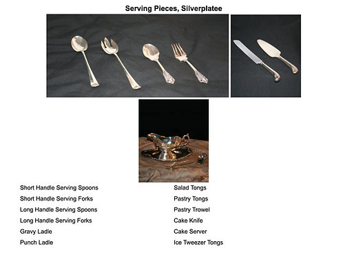 Serving Pieces, Silverplatee
