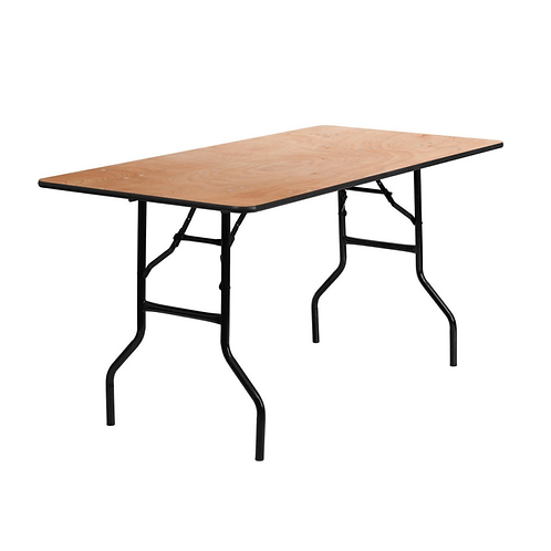 """6' ft long, 30""""wide Banquet Table"""
