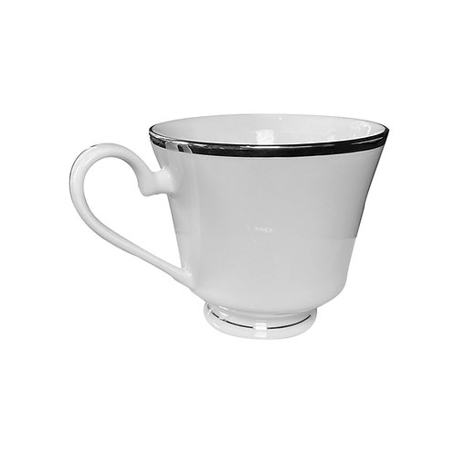 Silver Banned China Coffee Cups