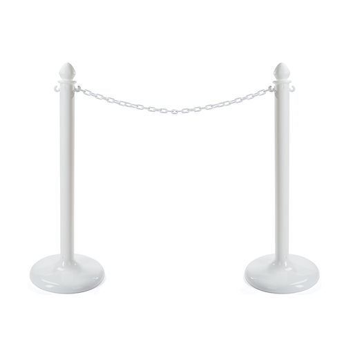Crowd Control Aisle Stands & Chain White