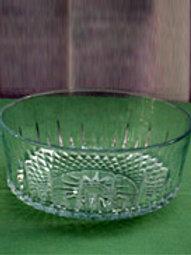 "Glassware - 9"" Glass Fruit Bowls"