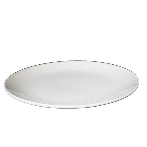 "White China - 18"" Round Serving Platters"