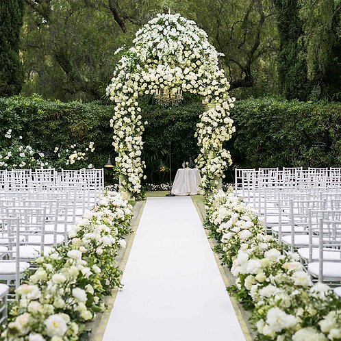 50' Wedding White Runner