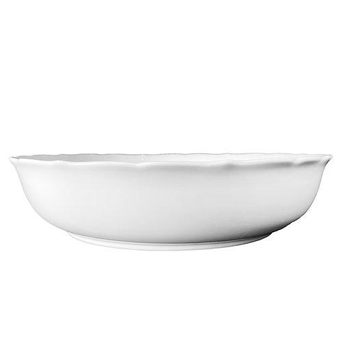 """White China - 16"""" Round Salad Bowls"""