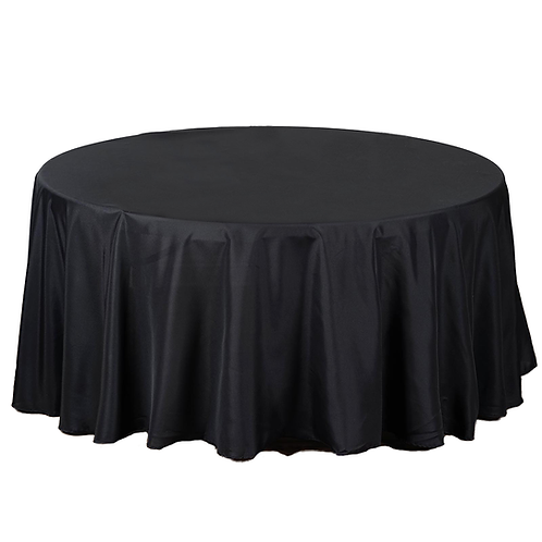 Round Black Table Linens