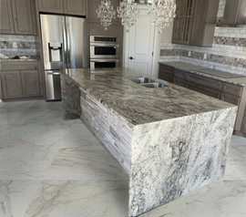 Kitchen Countertops/Waterfall - Residential Project