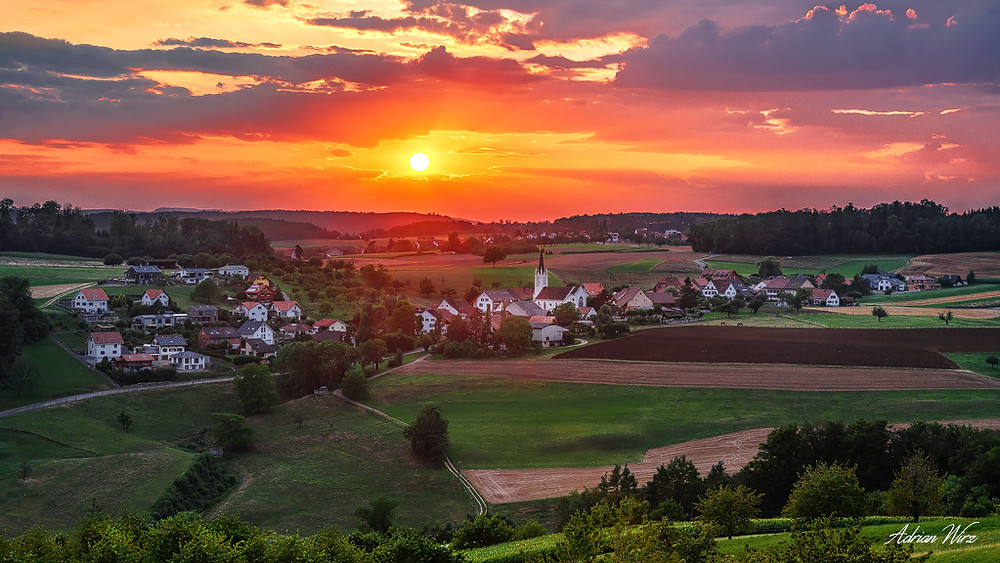 Sonnenuntergang im Baselbiet