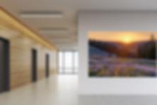 Drei Zinnen im modernen Wohnzimmer