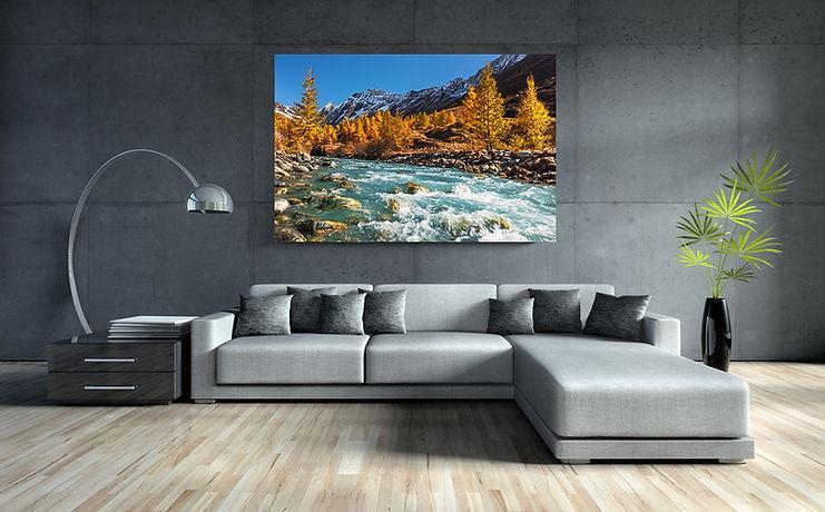 Acrylbild im Wohnzimmer
