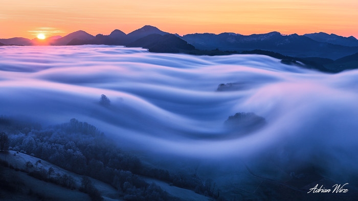 Nebelwelle auf den Jurahöhen