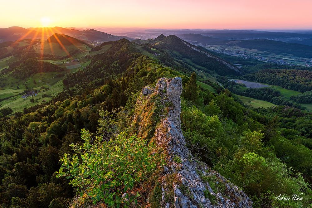 Auf der Bölchenfluh im Schweizer Jura