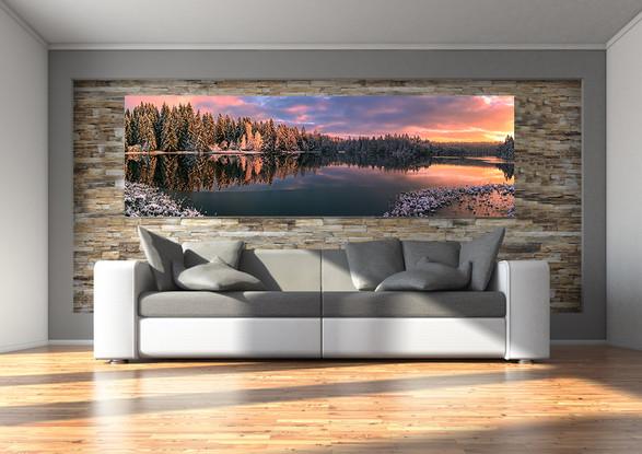 Alu Dibond Foto im Wohnzimmer