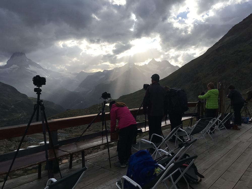 Aussicht Richtung Matterhorn von der Fluhalphütte