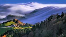 Die Nebelwelle am Belchen