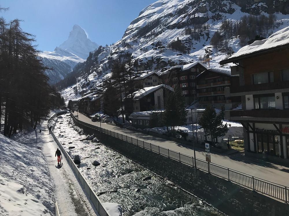 Kirchbrücke in Zermatt