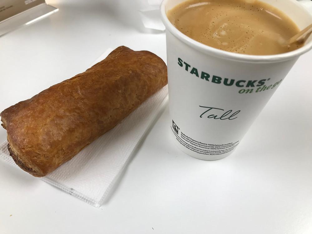 Wurstweggen und Kaffee