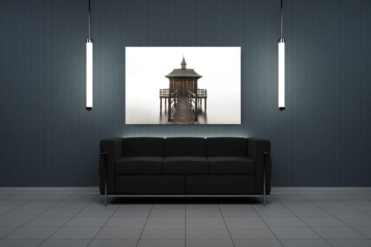 Modernes Wohnzimmer mit Foto