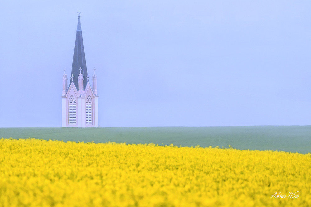 Kirche von Kilchberg im Kanton Baselland.
