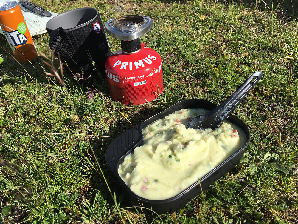 travellunch outdoornahrung und Primus Gaskocher