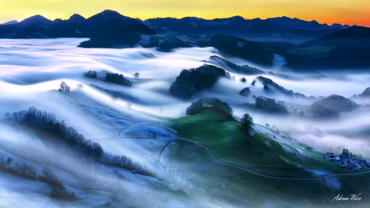 Nebelfall im Baselbiet