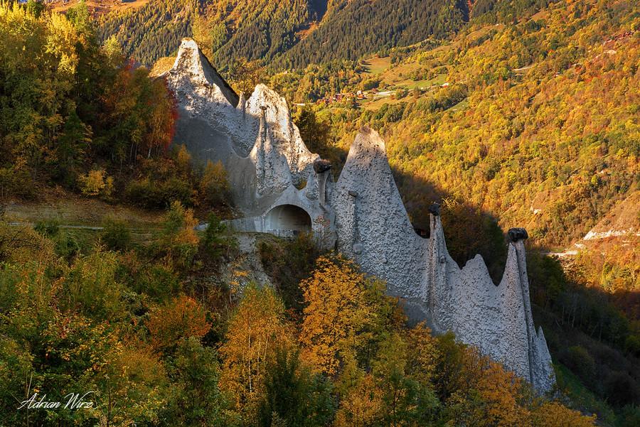 Erdpyramiden von Euseigne im Val d'Hérens