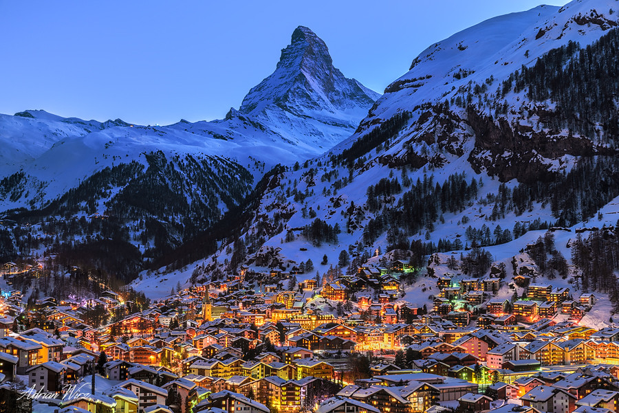 Zermatt und Matterhorn by Night