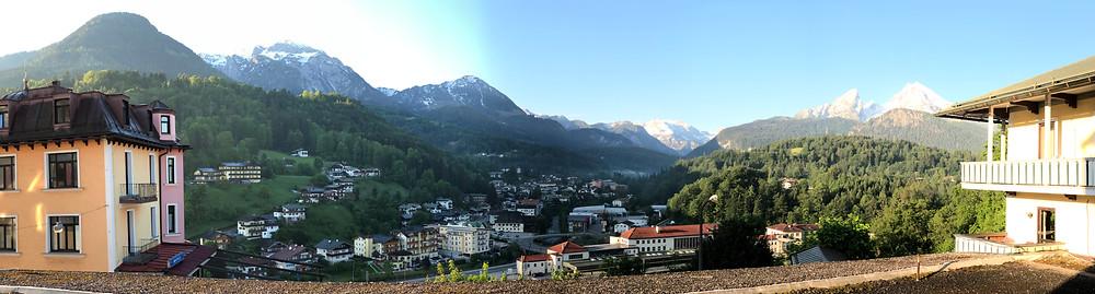 Panorama vom Hotelzimmer in Berchtesgaden