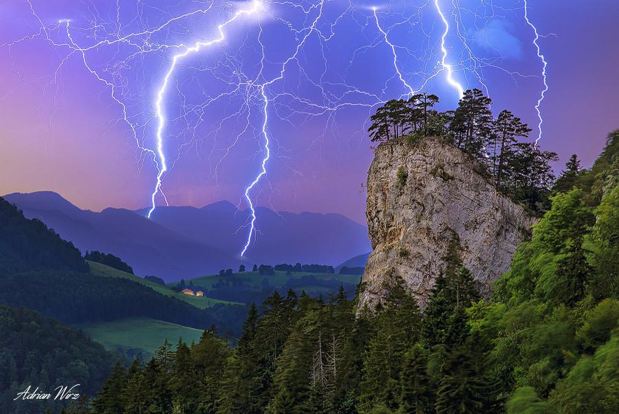 Gewitter beim Ankenballen