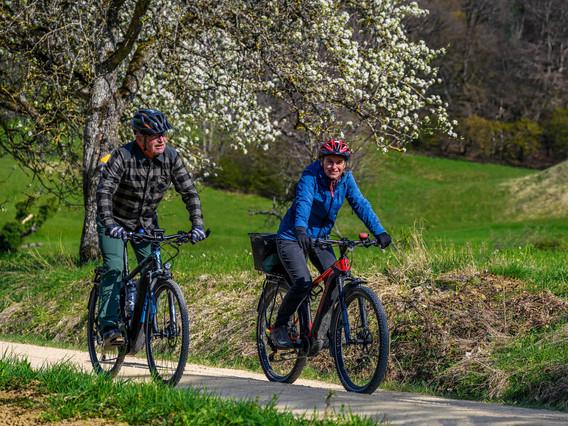 E-Bike im Jura