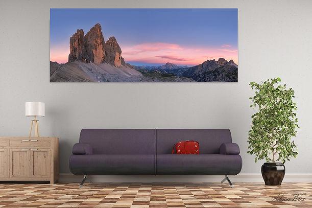 Panorama Foto im Wohnzimmer
