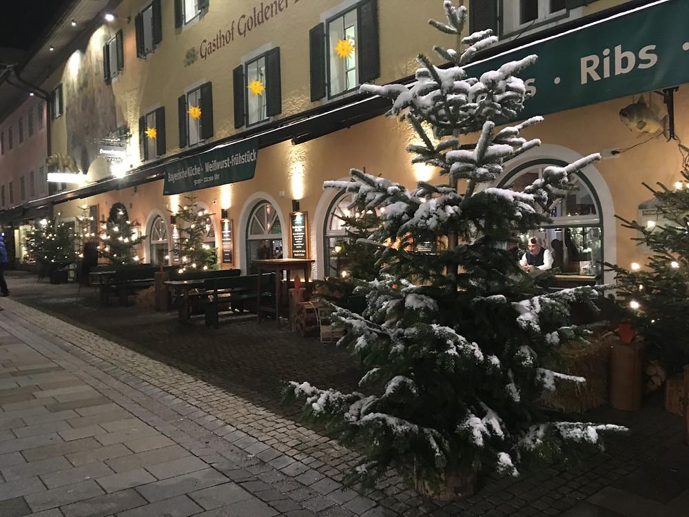 """Gasthof """"Goldener Bär"""" in Berchtesgaden."""