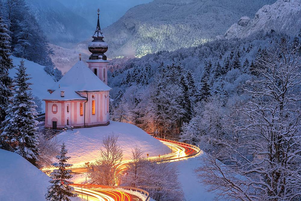 Maria Gern bei Berchtesgaden im Winter