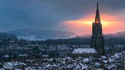 Sonnenuntergang beim Berner Münster