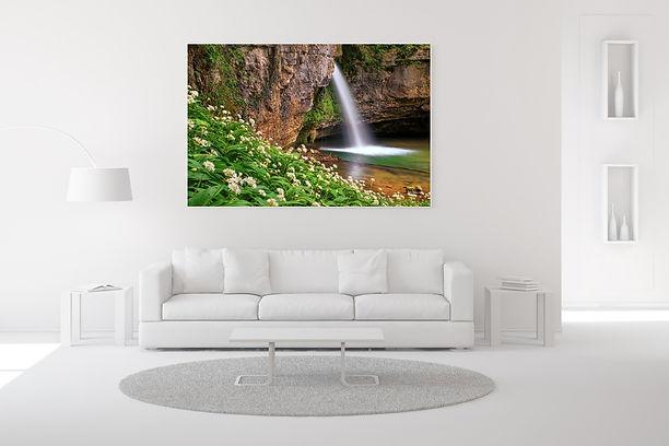 Wasserfall Foto im Eingangsbereich